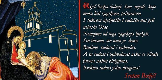 Božićna poruka biskupa Ivice 2018.